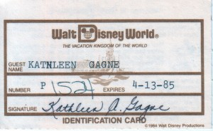 Walt Disney World Guest Card (front)